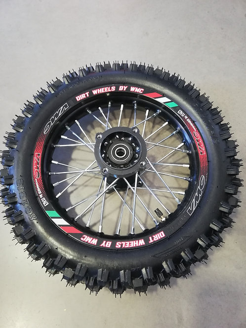 Jante Aluminium Arrière avec pneu monté 80/100-12