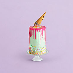 Decorated Birthday Cake with Ice Cream C