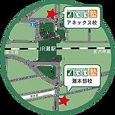 灘本部校は、JR灘駅をHAT神戸側に徒歩2分です。HAT神戸から中学生や高校生も多く在籍しています。岩屋駅からも北側に徒歩2分という便利な場所にあります。いい塾のアネックス校はJR北口出て目の前にございます。駅近で安心できます。
