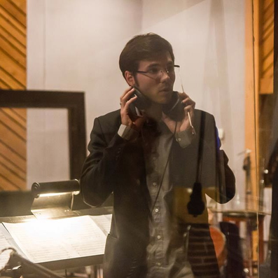Recording session, West Hollywood, Los Angeles - 2014