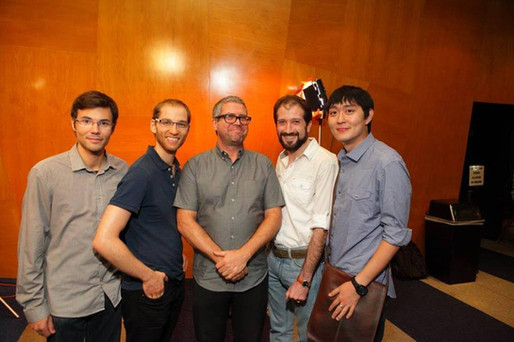 With composer John Powell. Hollywood - 2015