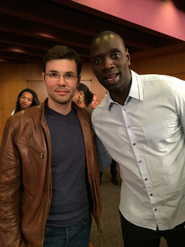 With actor Omar Sy. Hollywood - 2016