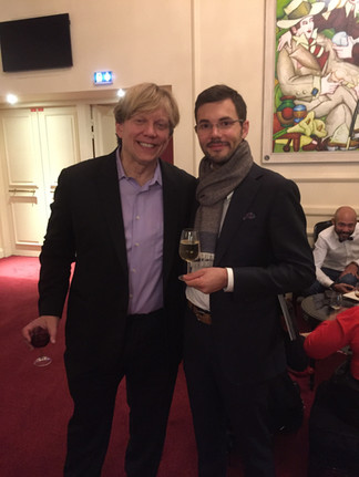 With composer/conductor Rob Bowman. Paris - 2018