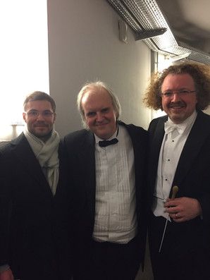 With pianist Nicholas Angelich and conductor Stéphane Denève