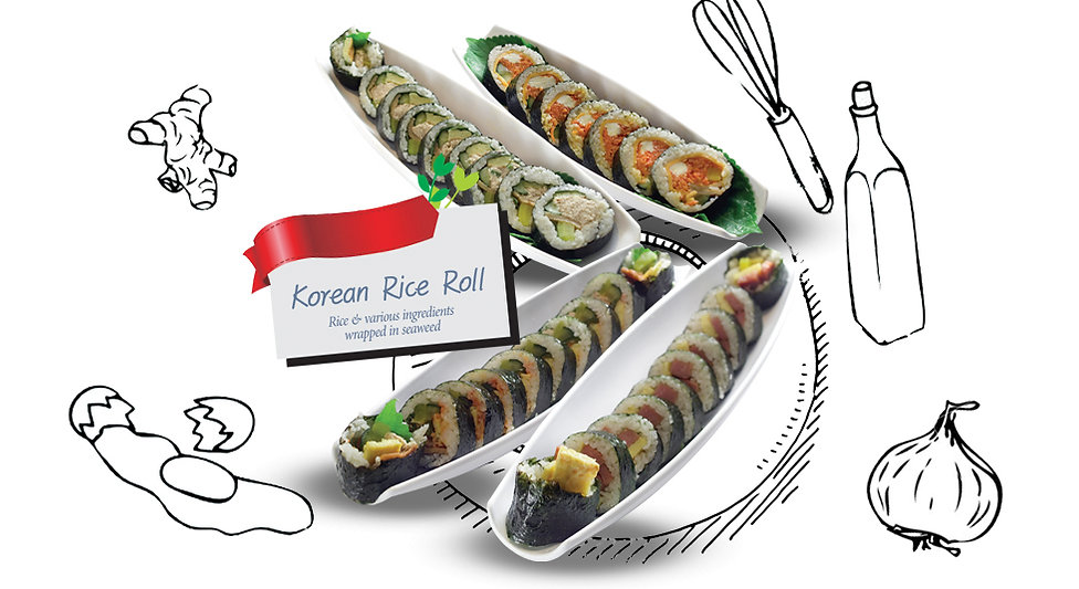 popular korean dish korean rice roll