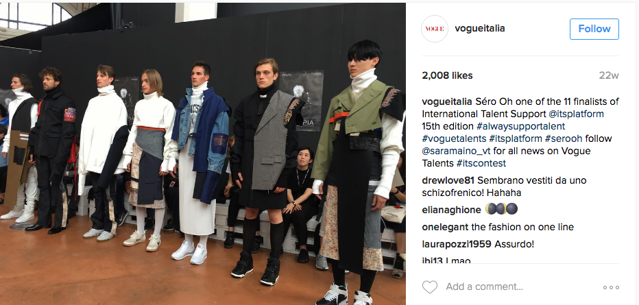 Vogue ITALIE Instagram