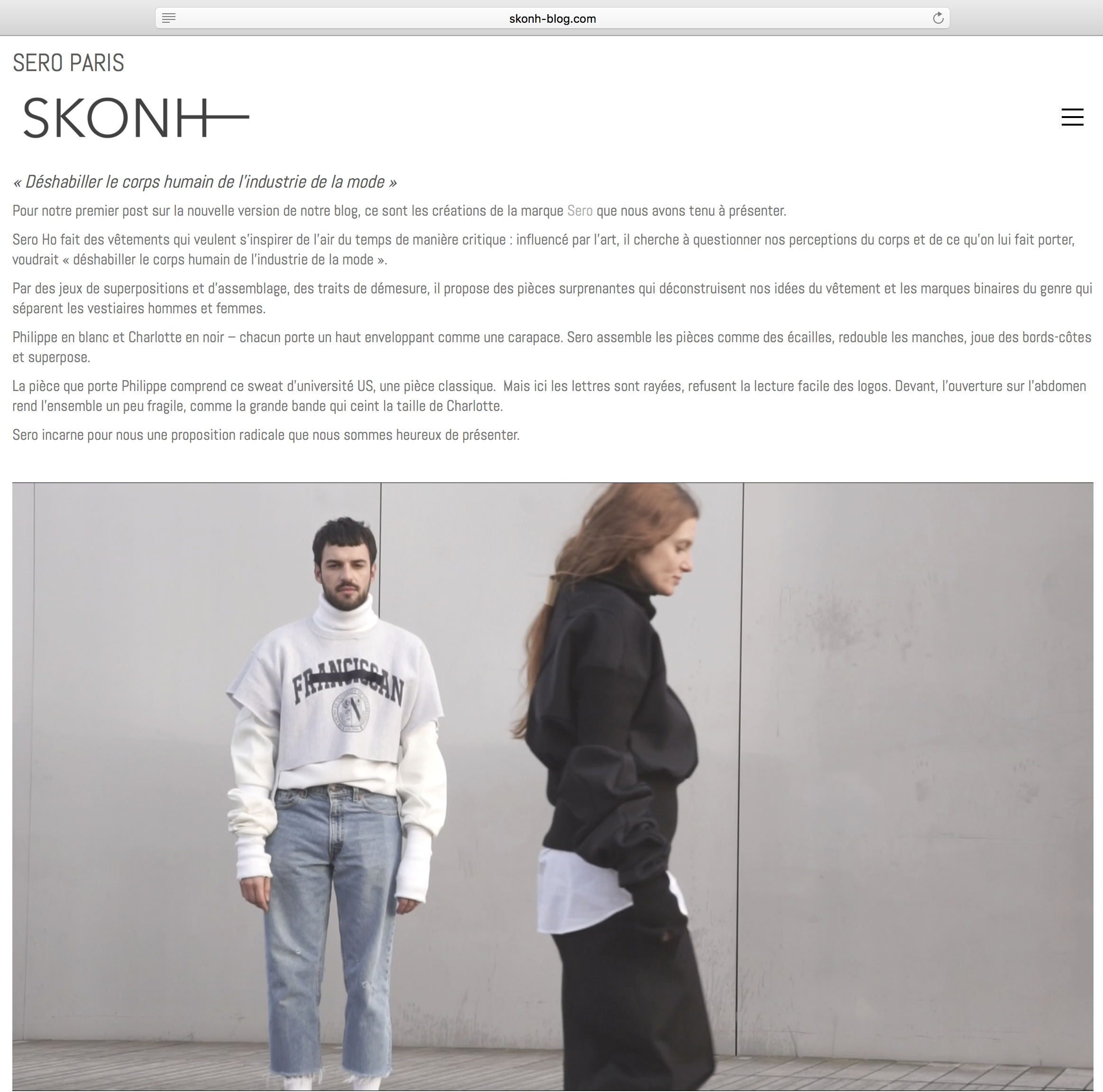 SKONH WITH SERO PARIS