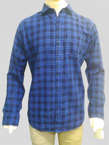Indigo Checks - Pure Cotton