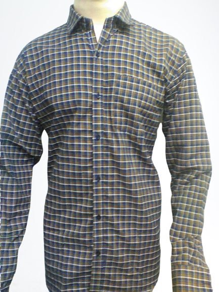 Indigo Check - PolyCotton