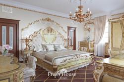 дизайн спальни в стиле баррокко