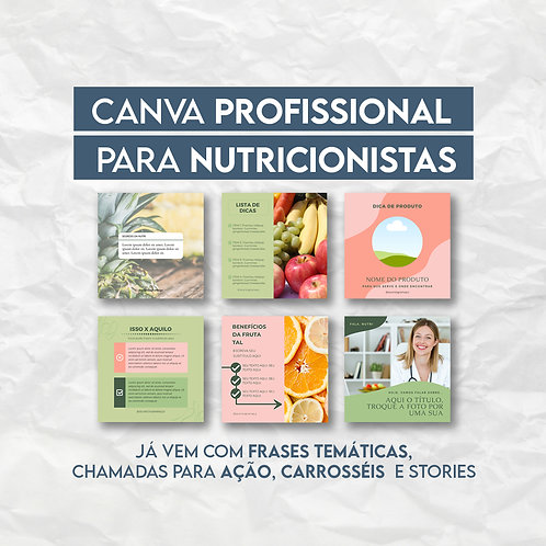 PACK 30 ARTES - NUTRICIONISTA
