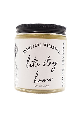 Champagne Celebration Massage Candle