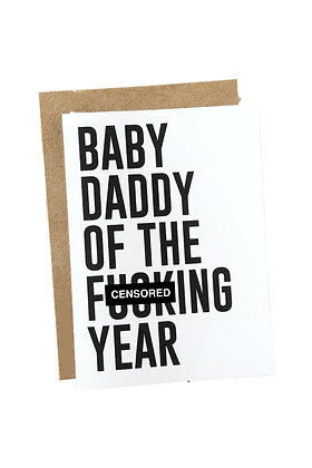 Baby Daddy of the Year Card
