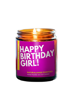 Butter Cream Scent- Happy Birthday Girl! Candle