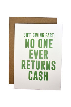 Gift-Giving Fact Card