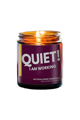 Lavender Scent- Quiet I Am Working Candles