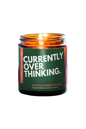 Lemongrass and Jasmine Scent- Currently Overthinking Candle
