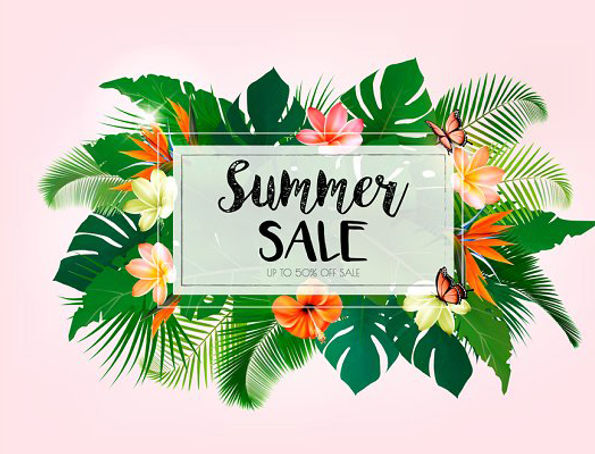 summer_sale_background_with_exotic_leave