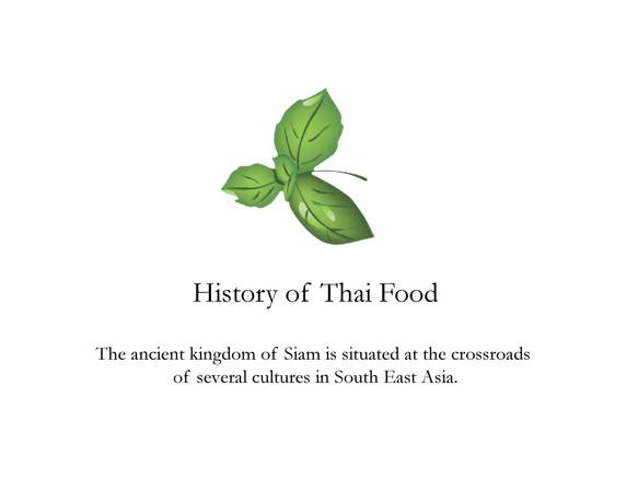 Thai Basil Bath history of Thai food