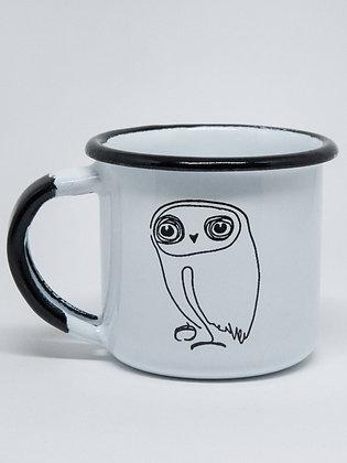 Little Owl I Enamel Cup