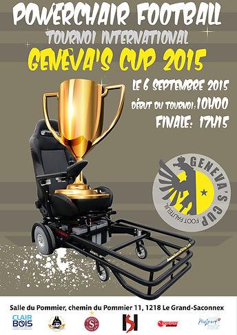 Powerchair football tournoi international Genèva's Cup 2015