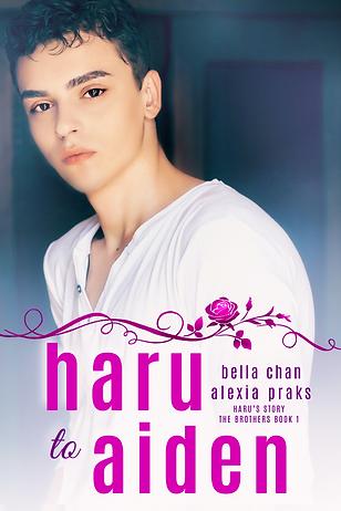 Haru to Aiden mm gay harem romance book novel boys love bl yaoi author bella chan alexia praks alexia x beautiful dark hair boy young man in white shirt