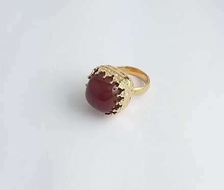 CLASSIC RING WITH CORNELIAN
