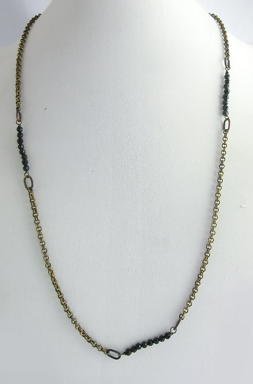 MAN NECKLACE WITH NATURAL STONES