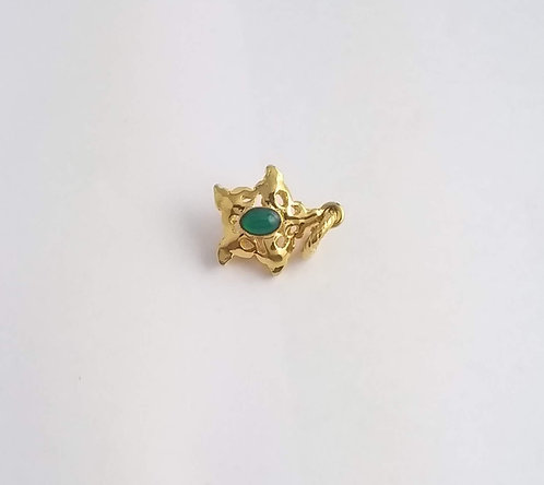 CHARM SHAPED A STAR WITH NATURAL STONE