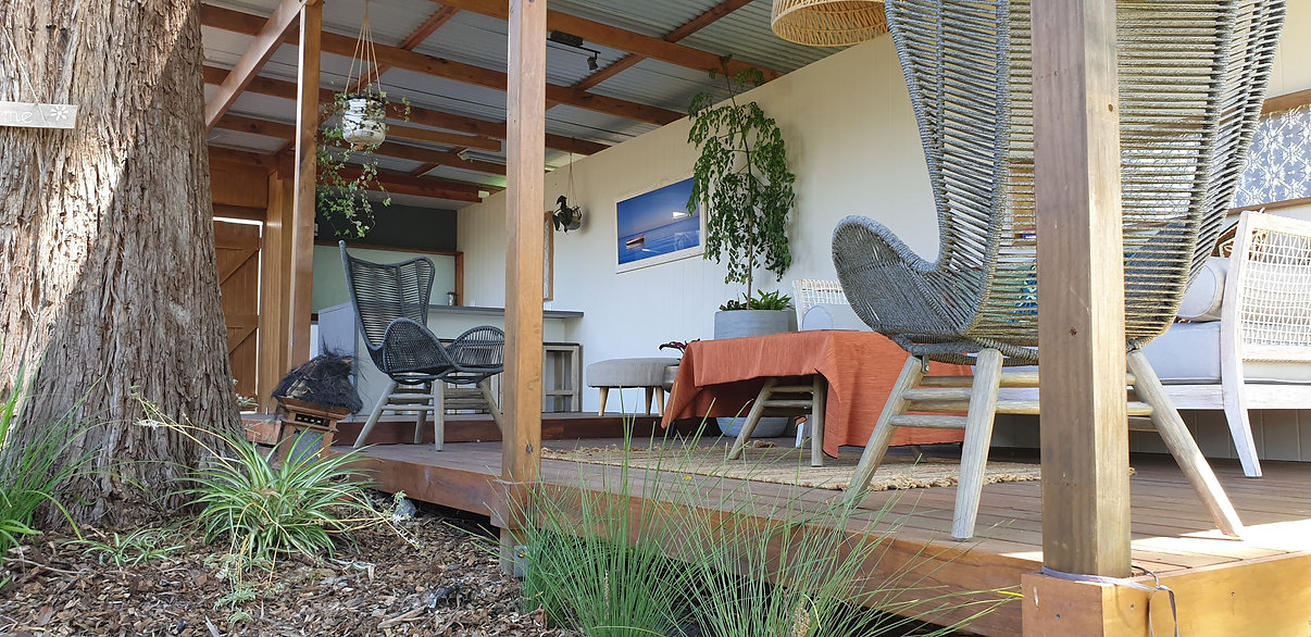 Sustainable passive design outdoor patio