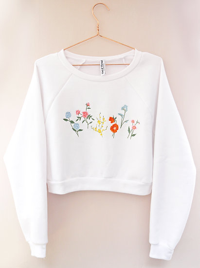 Cropped Country Garden Jumper