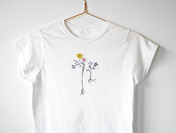 Embroidered Spring Florals T-shirt