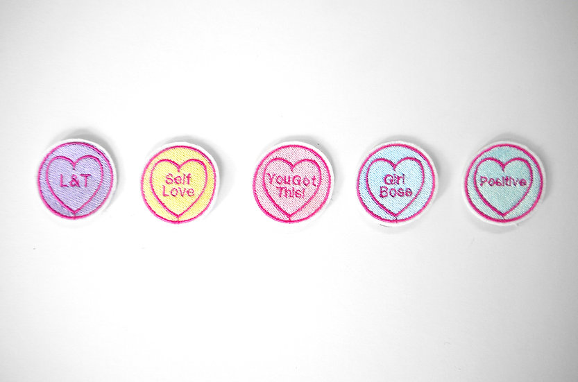 Individual Personalised Love Heart Patches