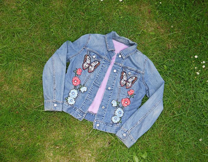 Butterflies Reworked Denim Jacket