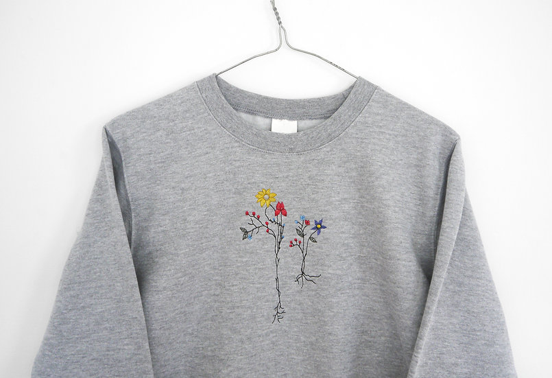 Oversized Embroidered Floral Jumper