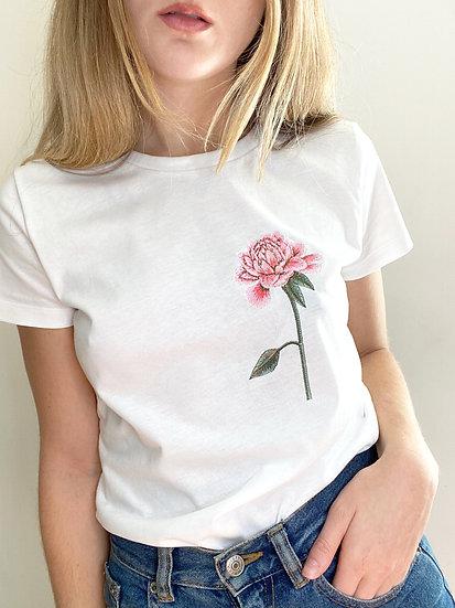 Embroidered Chrysanthemum Tee