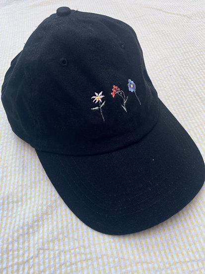 Black Mini Bloom Cap