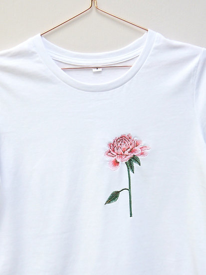 Embroidered Chrysanthemum Tee