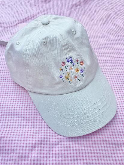 Ecru Ditsy Floral Cap