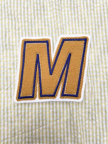 Mustard & Navy 'M' Patch