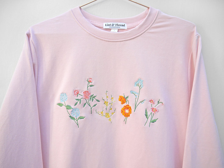 Recycled Pink Country Garden Jumper (Oversized)