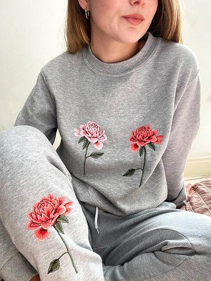 Embroidered Chrysanthemum Lounge Set