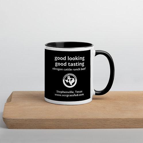 "OC Ranch ""good looking, good tasting' Mug with Color Inside"