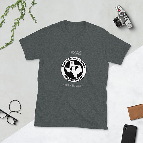 "OC Ranch ""logo with Stephenville, Texas print"" Unisex T-Shirt"