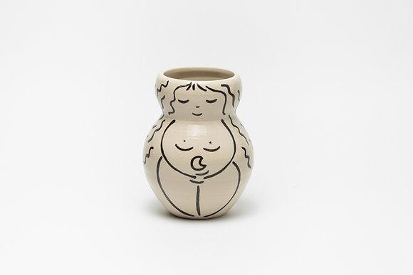 Vase Petite Femme et Lune n*4