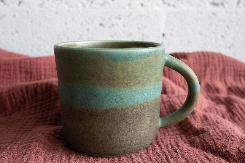Tasse à thé, fleur de vie, vert à effets