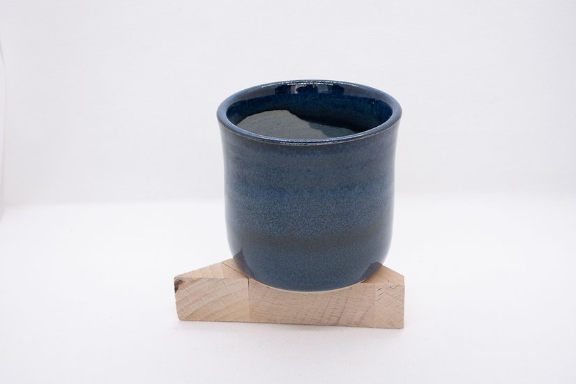 Gobelet fleur de vie, bleu à effets