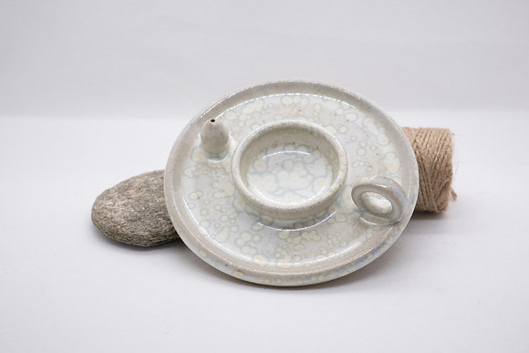 Bougeoir Porte-Encens pour bougie chauffe-plat blanc à effets  (7)