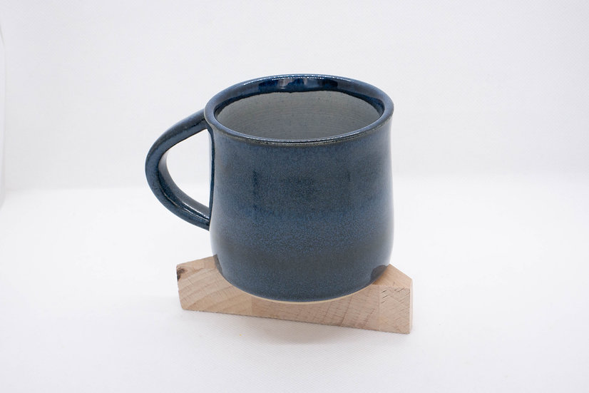 Tasse à thé, fleur de vie, bleu à effets (n*1)