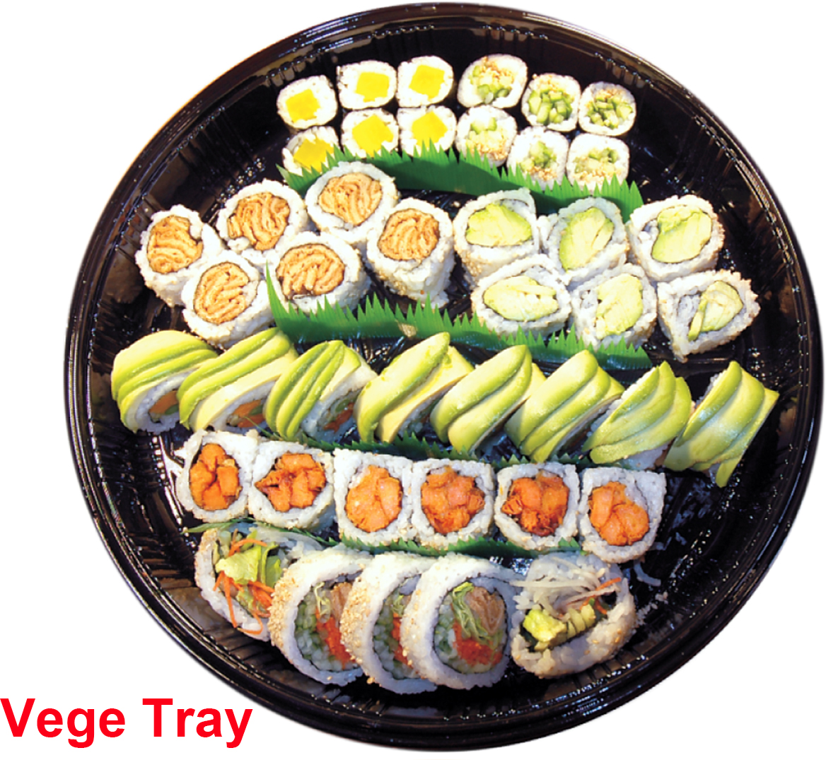 vegetable sushi tray c